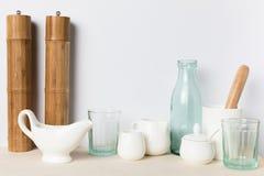 Pusty szkło i ceramiczni naczynia Obraz Royalty Free