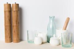 Pusty szkło i ceramiczni naczynia Obraz Stock