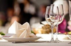 pusty szkieł restauraci set Zdjęcie Royalty Free