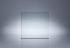 pusty szklany talerz Zdjęcie Stock