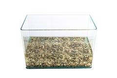 Pusty szklany zbiornik wodny & x28; aquarium& x29; Zdjęcia Royalty Free