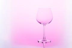 pusty szkło wina Zdjęcia Royalty Free