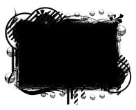 pusty sztandaru czerń Ilustracji