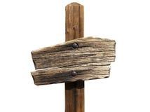 pusty szyldowy drewniany Fotografia Stock