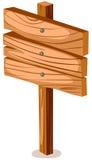 pusty szyldowy drewno Obrazy Royalty Free