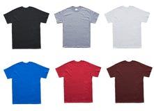 Pusty T koszula 6 koloru szablon fotografia stock
