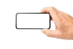 Pusty telefon komórkowy w ręce Fotografia Stock