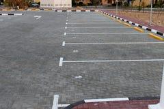 pusty terenu parking zdjęcia royalty free