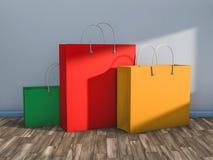 Pusty torba na zakupy dla reklamować i oznakować Fotografia Stock
