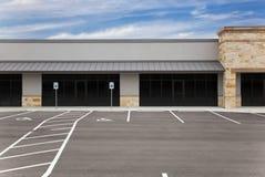 pusty udziału centrum handlowego parking znaków pasek Obrazy Royalty Free