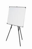 Pusty whiteboard na czarnym tripod Fotografia Royalty Free