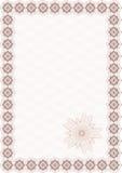 pusty świadectwa guilloche styl Obraz Royalty Free