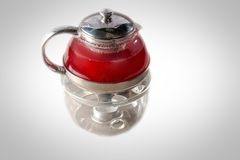 pusty wieczór szkła światła teapot Fotografia Stock
