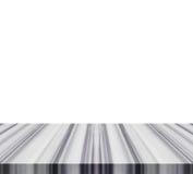 Pusty wierzchołek granitu kamienia stół lub kontuar odizolowywający na białych półdupkach fotografia stock