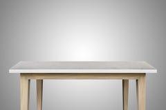 Pusty wierzchołek granitu kamienia stół na białym tle Zdjęcia Stock