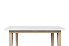 Pusty wierzchołek granitu kamienia stół odizolowywający na białym tle Fotografia Stock