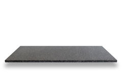 Pusty wierzchołek naturalne kamień półki odizolowywać na białym tle zdjęcia stock