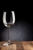 Pusty wina szkło zdjęcie stock