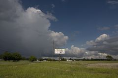 pusty wzdłuż autostrady znaku Zdjęcia Stock