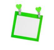 Pusty zielony papier odizolowywał use dla wszywka teksta Zdjęcie Royalty Free