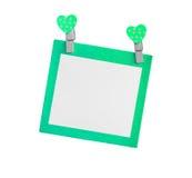 Pusty zielony papier odizolowywał use dla wszywka teksta Fotografia Royalty Free