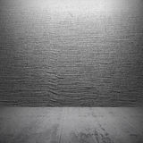 Pusty zmroku betonu wnętrze z stiukiem Obrazy Stock