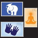 pustych miejsc ilustracyjny poczta znaczków wektor Obrazy Stock