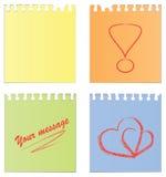 pustych notatek papierowy set Fotografia Royalty Free