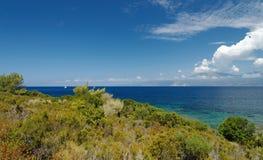 Pustynia Agriates w Corsica wyspie Obraz Stock