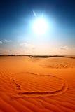 pustynia ja kocham Fotografia Stock