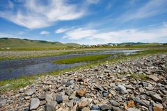 Pustynia Mongolia Zdjęcie Royalty Free