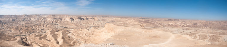 Pustynia Negew panoramiczny widok Zdjęcie Royalty Free