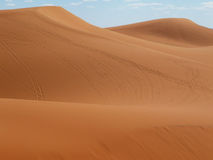 Pustynia przy Merzouga, wschodni Maroko Zdjęcie Royalty Free