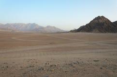 Pustynia w Afryka ATV safari Wycieczki w Egipt Zdjęcia Royalty Free