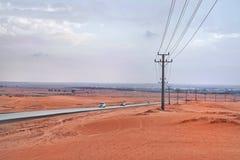 Pustynia w saudyjczyku Arabia zdjęcie royalty free