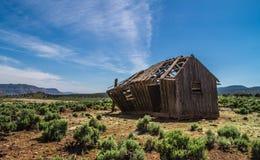 pustynia zaniechany dom Zdjęcie Stock