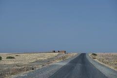 Pustynna Afrykańska droga Zdjęcie Stock