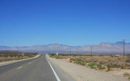 pustynna autostrada Zdjęcie Stock