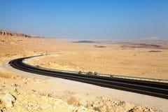 Pustynna autostrada Zdjęcie Royalty Free