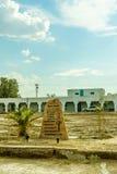 Pustynna autostrada Śmiertelna Dolinna parka narodowego Amargosa opera i hotel Fotografia Stock