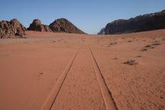 pustynna droga Zdjęcie Royalty Free