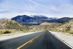 pustynna droga Obrazy Stock