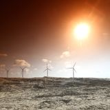 pustynna energia Zdjęcie Stock