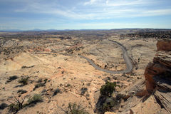 pustynna highway Zdjęcia Stock