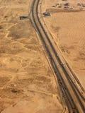 pustynna highway Obrazy Royalty Free