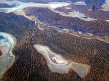 pustynna jeziora soli Obraz Royalty Free