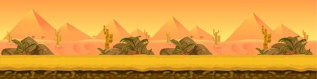 Pustynna krajobrazowa panorama Obraz Royalty Free