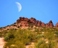Pustynna księżyc Obraz Royalty Free