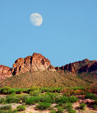 Pustynna księżyc Zdjęcie Stock