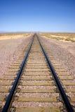 pustynna linia kolejowa Obraz Royalty Free